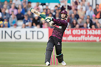 Eddie Byrom of Somerset CCC hits high over mid wicket for six runs during Essex Eagles vs Somerset, Vitality Blast T20 Cricket at The Cloudfm County Ground on 7th August 2019