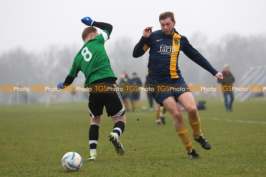 Bocca Albion (blue/yellow) vs FC BKT, Hackney & Leyton Sunday League Junior Cup Semi-Final Football at Hackney Marshes on 12th February 2017