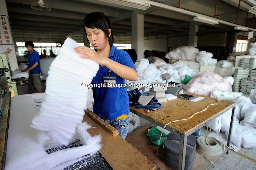 Taiwan-capital furniture factory in Huizhou, Guangdong, China..