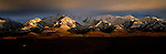 Late day light hits the mountains above Polychrome Pass in Denali National Park, Alaska.