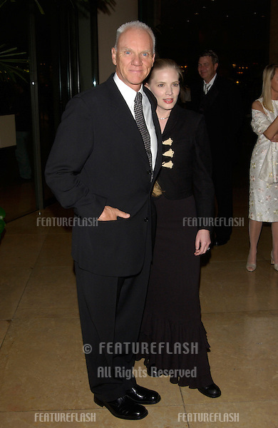 Actor MALCOLM McDOWELL & wife at the 11th Annual BAFTA/LA Britannia Awards at the Beverly Hills Hilton..12APR2002.  © Paul Smith / Featureflash