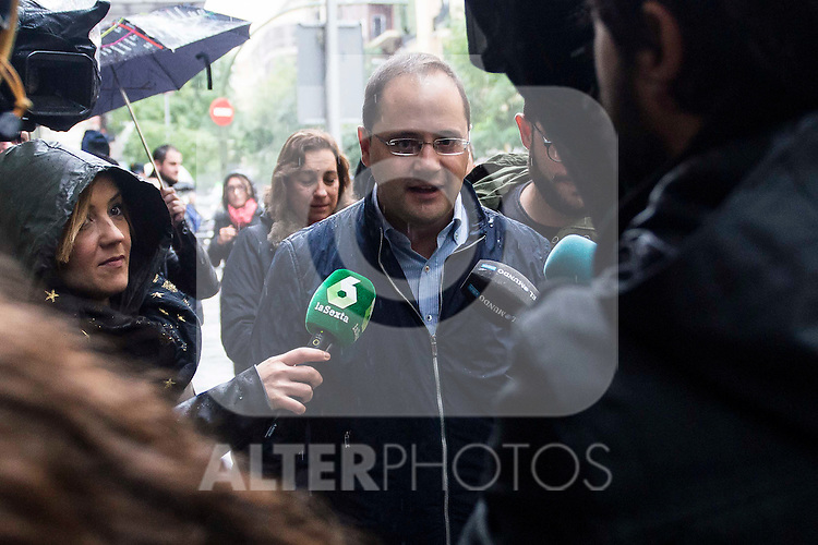 Cesar Luena attends to the meeting of PSOE's Federal Committee at PSOE's headquarters in Ferraz, Madrid. October 23, 2016. (ALTERPHOTOS/Borja B.Hojas)