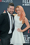 Chris Marques and Jaclyn Spencer pose at a photocall for the TV series 'Dance with the star' during the 55th Monte Carlo TV Festival on June 13, 2015 in Monte-Carlo, Monaco