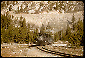 D&amp;RGW #480 K-36 in Monarch area.<br /> D&amp;RGW  Monarch Branch, CO