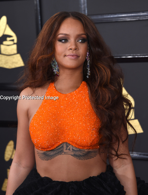 Rihanna @ the 59th Annual GRAMMY Awards held @ the Microsoft Theatre.<br /> February 12, 2017 , Los Angeles, USA. # 59EME GRAMMY AWARDS 2017