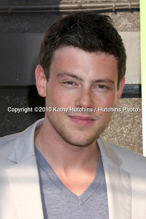 "LOS ANGELES - JUL 27:  Cory Monteith arrives at Fox's ""Glee"" Academy: An Evening of Music With the Cast of Glee at The Music Box & Henry Fonda Theater on July27, 2010 in Los Angeles, CA ..."