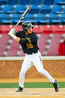Jordan Hagel #34 of the Maryland Terrapins at bat against the Wake Forest Demon Deacons at Wake Forest Baseball Park on March 9, 2012 in Winston-Salem, North Carolina.  The Demon Deacons defeated the Terrapins 10-5.  (Brian Westerholt/Four Seam Images)