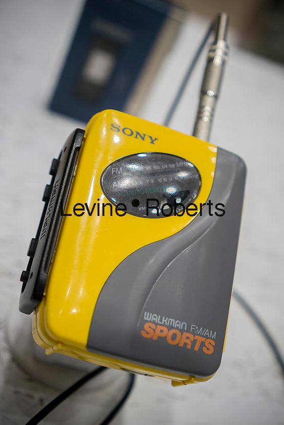 Original Sony brand Walkman on display in New York on Saturday, March 18, 2017.  (© Richard B. Levine)