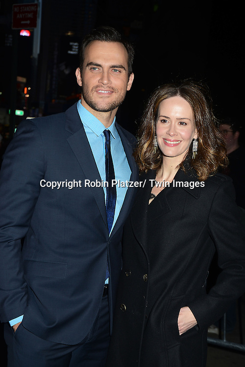 Cheyenne Jackson and Sarah Paulson attends Rogers +  Hammerstein's Cinderella Broadway Opening night on March 3, 2013 at the Broadway Theatre in New York City.