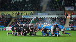 Heineken Cup - Ospreys v Treviso - Liberty Stadium - Swansea - UK - 12th October 2012 :                .Steam rising off the scrum between Ospreys and Treviso.