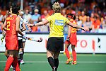 The Hague, Netherlands, June 01: Referee gestures during the field hockey group match (Women - Group B) between Germany and China on June 1, 2014 during the World Cup 2014 at GreenFields Stadium in The Hague, Netherlands. Final score 1:1 (0:0) (Photo by Dirk Markgraf / www.265-images.com) *** Local caption ***