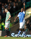 Nigel Hasselbaink celebrates his goal to the St Johnstone fans