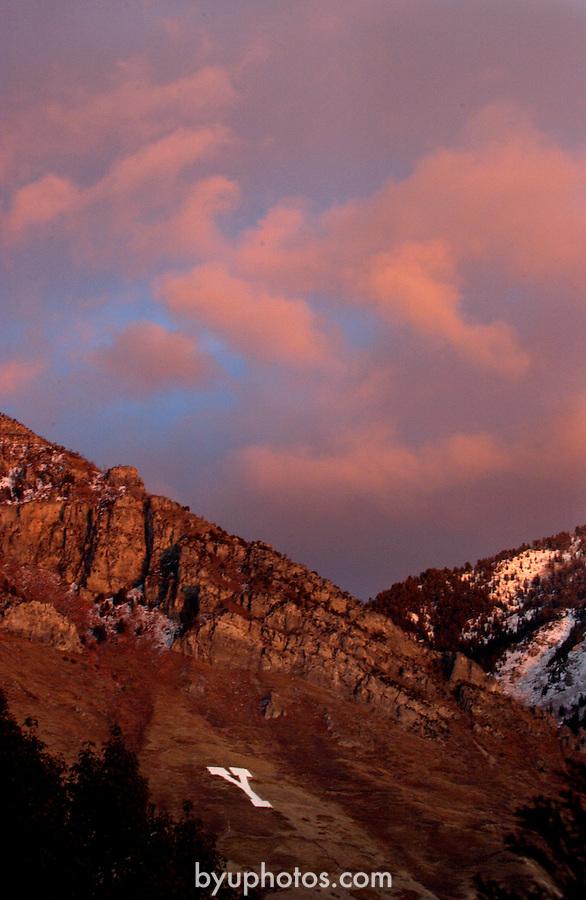 Y mountain.November 11, 2003..Photography by Mark A. Philbrick.Photo by Mark Philbrick/BYU.11/11/03