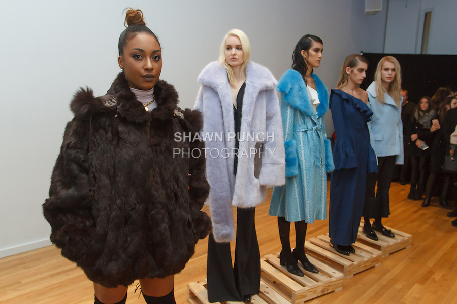 Cyrene Tankard from the Bravo TV show Thicker Than Water attends the Nika Tang Fall Winter 2016 fashion presentation, during New York Fashion Week Fall 2016.