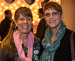 Susan Opyrchal and Krista Lane at the 3rd Street Flats Grand Opening in downtown Reno on Jan. 24, 2017.
