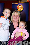 Conor, Antoinette and Nicole Lynch Killarney who was supporting their dad at the darts festival in the INEC Killarney on Sunday..   Copyright Kerry's Eye 2008