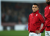 14th September 2017, Emirates Stadium, London, England; UEFA Europa League Group stage, Arsenal versus FC Cologne; Alexis Sanchez of Arsenal warms up