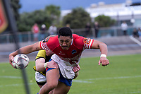 Lei Katoa in action during the preseason provincial rugby match between Horowhenua Kapiti and Wellington at Levin Domain in Levin, New Zealand on Monday, 4 May 2018. Photo: Dave Lintott / lintottphoto.co.nz