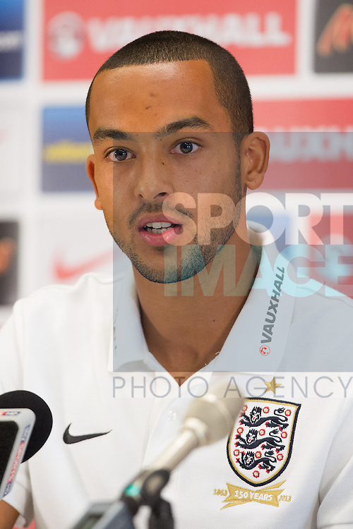 Theo Walcott of England during the press conference - England Training - St Georges Park - Burton-Upon-Trent - 03/09/2013 Pic Philip Oldham/Sportimage