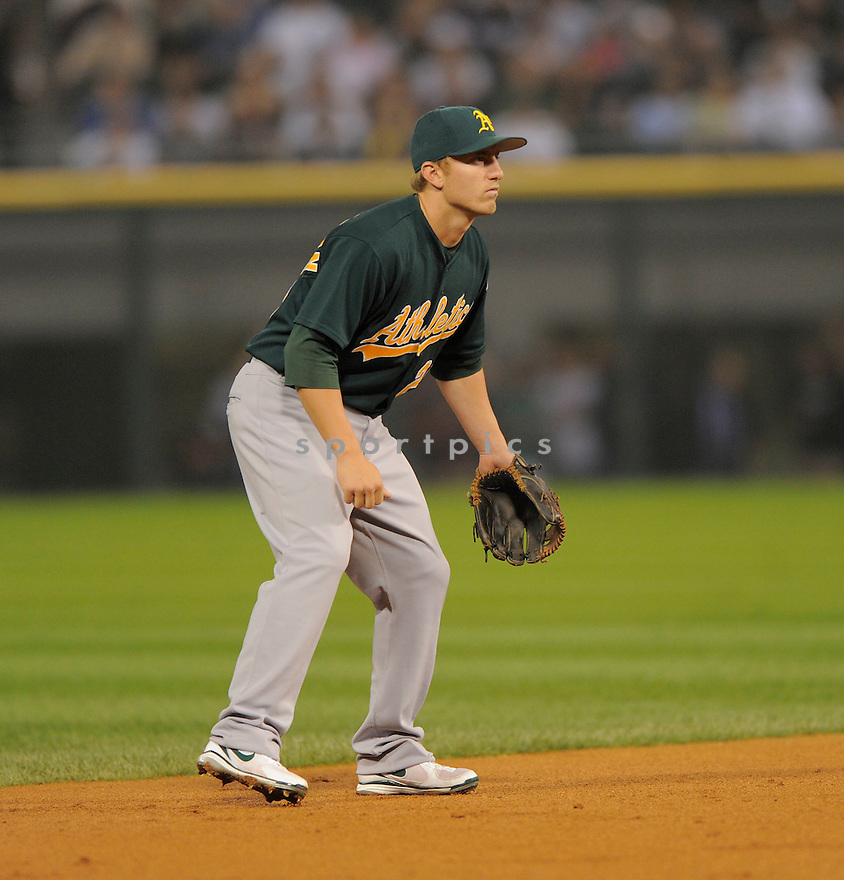 CLIFF PENNINGTON, of the Oakland A's  , in action during the A's  game against the Chicago White Sox on August 9, 2009 in Chicago, IL. The White Sox beat the A's 4-3 ...