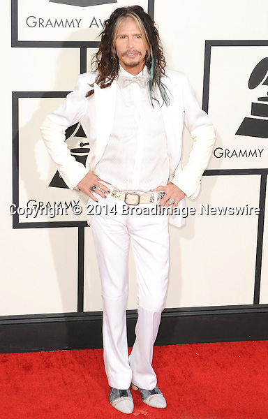 Pictured: Steven Tyler<br /> Mandatory Credit &copy; Adhemar Sburlati/Broadimage<br /> The Grammy Awards  2014 - Arrivals<br /> <br /> 1/26/14, Los Angeles, California, United States of America<br /> <br /> Broadimage Newswire<br /> Los Angeles 1+  (310) 301-1027<br /> New York      1+  (646) 827-9134<br /> sales@broadimage.com<br /> http://www.broadimage.com