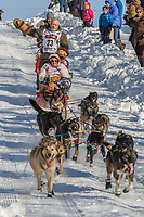 Jeff King on Cordova St. hill during the Anchorage start day of Iditarod 2018 on Cordova St. hill during the Anchorage start day of Iditarod 2019