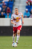 Markus Holgersson (5) of the New York Red Bulls. The New York Red Bulls and the Columbus Crew played to a 2-2 tie during a Major League Soccer (MLS) match at Red Bull Arena in Harrison, NJ, on May 26, 2013.