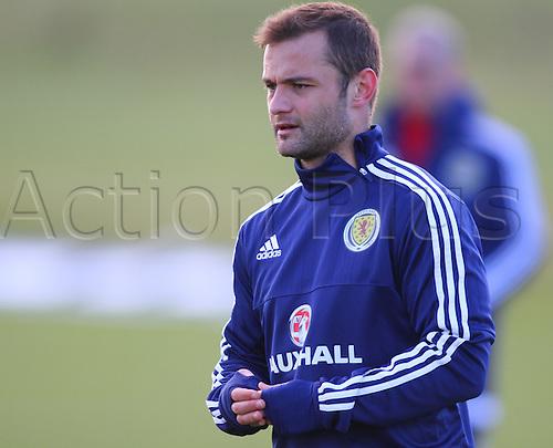 28.03.2016. Mar Hall, Glasgow, Scotland. International Football Scotland Training and Media Event. Shaun Maloney