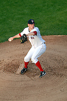 Pawtucket Red Sox starting pitcher Alex Wilson (#30) delivers a pitch during a game versus the Rochester Red Wings on September 4, 2011 at McCoy Stadium in Pawtucket Rhode Island. Ken Babbitt/Four Seam Images