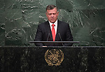 Address by His Majesty Abdullah II Ibn Al Hussein, King of the Hashemite Kingdom of Jordan
