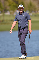 Eddie Pepperell (ENG) after sinking his putt on 6 during round 1 of the Arnold Palmer Invitational at Bay Hill Golf Club, Bay Hill, Florida. 3/7/2019.<br /> Picture: Golffile | Ken Murray<br /> <br /> <br /> All photo usage must carry mandatory copyright credit (© Golffile | Ken Murray)