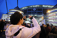 A general view of The Etihad as fans await the arrival of the Manchester City team bus<br /> <br /> Photographer Rich Linley/CameraSport<br /> <br /> UEFA Champions League Round of 16 Second Leg - Manchester City v FC Schalke 04 - Tuesday 12th March 2019 - The Etihad - Manchester<br />  <br /> World Copyright &copy; 2018 CameraSport. All rights reserved. 43 Linden Ave. Countesthorpe. Leicester. England. LE8 5PG - Tel: +44 (0) 116 277 4147 - admin@camerasport.com - www.camerasport.com