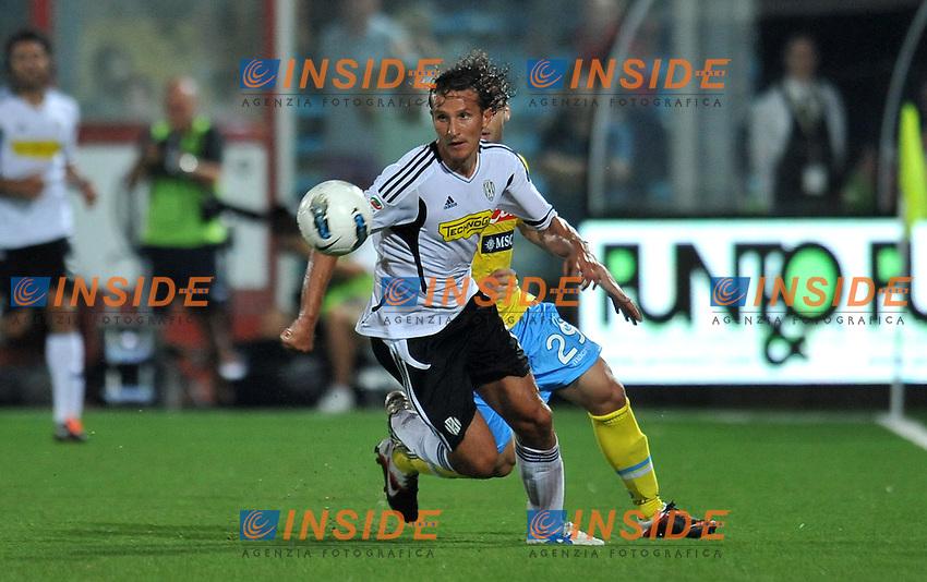"Gianluca COMOTTO (Cesena).Cesena 10/9/2011 Stadio ""Dino Manuzzi"".Serie A 2011/2012.Football Calcio Cesena Vs Napoli.Foto Insidefoto Alessandro Sabattini."