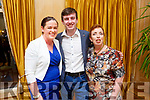 Paula Sills, Josh O'Keefe and Anne Lynch attending the Ballymac Strictly Love dancing in the Ballygarry House Hotel on Saturday.