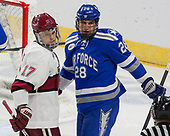 Sean Malone (Harvard - 17), Brady Tomlak (AFA - 28) - The Harvard University Crimson defeated the Air Force Academy Falcons 3-2 in the NCAA East Regional final on Saturday, March 25, 2017, at the Dunkin' Donuts Center in Providence, Rhode Island.