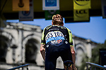 Jack Haig (AUS) Mitchelton-Scott at sign on before the start of Stage 16 of the 2019 Tour de France running 177km from Nimes to Nimes, France. 23rd July 2019.<br /> Picture: ASO/Pauline Ballet | Cyclefile<br /> All photos usage must carry mandatory copyright credit (© Cyclefile | ASO/Pauline Ballet)