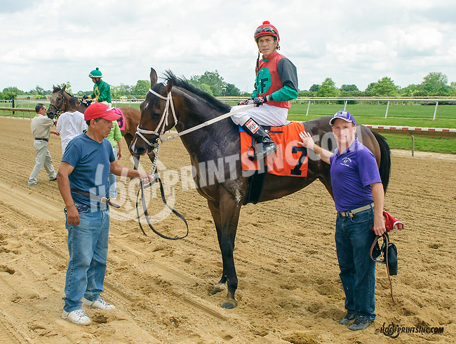 Very Colorful winning thru disqualification of Nines Wild Frankie at Delaware Park on 5/30/15