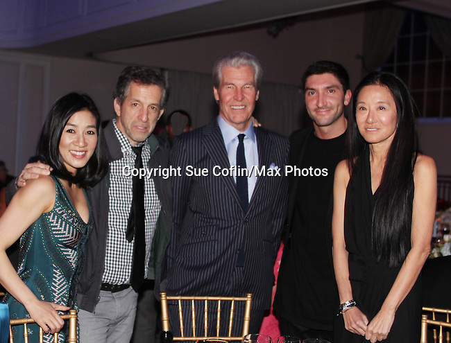 Michelle Kwan, Kenneth Cole, Terry Lundgren, Evan Lysacek, Vera Wang - The 11th Annual Skating with the Stars Gala - a benefit gala for Figure Skating in Harlem - honoring Cicely Tyson (film, tv and stage actress and was on The Guiding Lignt) and Meryl Davis & Charlie White (Olympic Ice Dance Champions and Meryl winner on Dancing with the Stars) and hosted by Mary Wilson of the Supremes on April 11, 2016 on Park Avenue in New York City, New York with many Olympic Skaters and Celebrities. (Photo by Sue Coflin/Max Photos)