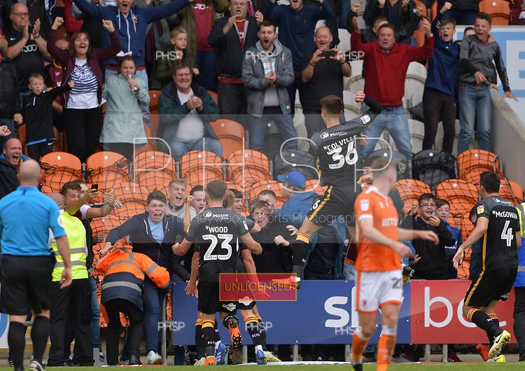 08/09/2018 Sky Bet League 1 Blackpool v Bradford City<br /> <br /> Eoin Doyle celebrates after scoring for Bradford City