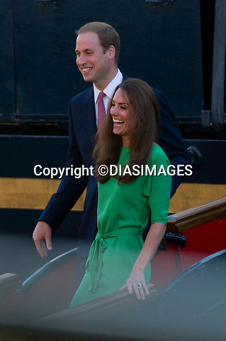 "PRINCE WILLIAM, THE DUKE OF CAMBRIDGE and CATHERINE, THE DUCHESS OF CAMBRIDGE..The Duke and Duchess are in high sprits as the celebrate with family and friends at the Pre-wedding party for Zara Phillips and Mike Tindall on the Royal Yacht Britannia. Royal Yacht Britannia, Leith, Edinburgh, Scotland_29/07/2011.Mandatory Credit Photo: ©DIASIMAGES..**ALL FEES PAYABLE TO: ""NEWSPIX INTERNATIONAL""**..No UK Usage until 29/07/2011.IMMEDIATE CONFIRMATION OF USAGE REQUIRED:.DiasImages, 31a Chinnery Hill, Bishop's Stortford, ENGLAND CM23 3PS.Tel:+441279 324672  ; Fax: +441279656877.Mobile:  07775681153.e-mail: info@newspixinternational.co.uk"