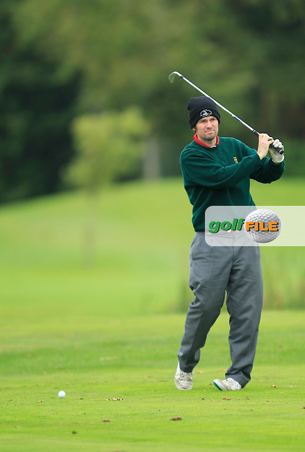 Martin McTernan (Co. Sligo G.C) on the 15th tee during Round 3 of The Cassidy Golf 103rd Irish PGA Championship in Roganstown Golf Club on Saturday 12th October 2013.<br /> Picture:  Thos Caffrey / www.golffile.ie