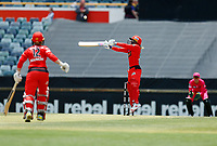 2nd November 2019; Western Australia Cricket Association Ground, Perth, Western Australia, Australia; Womens Big Bash League Cricket, Melbourne Renegades versus Sydney Sixers; Danni Wyatt of the Melbourne Renegades plays over the slips area - Editorial Use