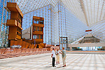 The Roman Catholic Church bought the Crystal Cathedral out of bankruptcy in 2011 and is currently transforming the iconic campus into a cathedral. Construction on Christ Cathedral will be complete in 2016. The view inside of the massive cathedral under construction, which formerly fit 2,800 attendees, on the campus in Garden Grove, California, seen August 5, 2014. <br /> CREDIT: Kendrick Brinson for The Wall Street Journal<br /> OCTV