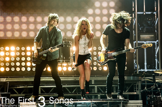 Kimberly Perry, Reid Perry, and Neil Perry of The Band Perry performs on Day One of the 2014 CMA Music Festival in Nashville, Tennessee.