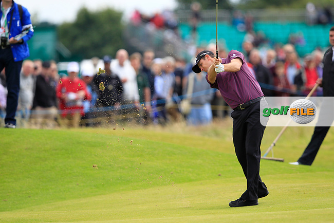 Justin Rose (ENG) plays his 2nd shot on the 14th hole during Thursday's Round 1 of the 141st Open Championship at Royal Lytham & St.Annes, England 19th July 2012 (Photo Eoin Clarke/www.golffile.ie)
