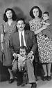 Iraq 1948 .Tuz Khurmatu: Sheikh Marouf Barzinji with on the right his wife and his children.Irak 1948.Tuz Khurmatu: Sheikh Marouf Barzinji avec a droite sa femme et ses enfants