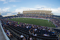 Orlando, FL - Saturday Sept. 24, 2016: Camping World Stadium during a regular season National Women's Soccer League (NWSL) match between the Orlando Pride and FC Kansas City at Camping World Stadium.