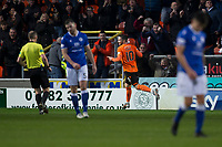 16th November 2019; Tannadice Park, Dundee, Scotland; Scottish Championship Football, Dundee United versus Queen of the South; Nicky Clark of Dundee United celebrates after scoring for 2-0 in the 45th minute - Editorial Use