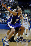 02 February 2008:  TCU forward, Jenna Lohse (40), during the Horned Frogs 67-49 victory over the Air Force Falcons at Clune Arena, Air Force Academy, Colorado Springs, Colorado.