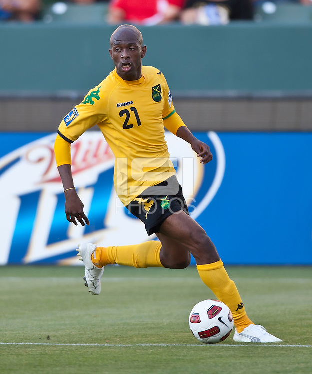 CARSON, CA – June 6, 2011: Jamaican Luton Shelton (21) during the match between Grenada and Jamaica at the Home Depot Center in Carson, California. Final score Jamaica 4 and Grenada 0.